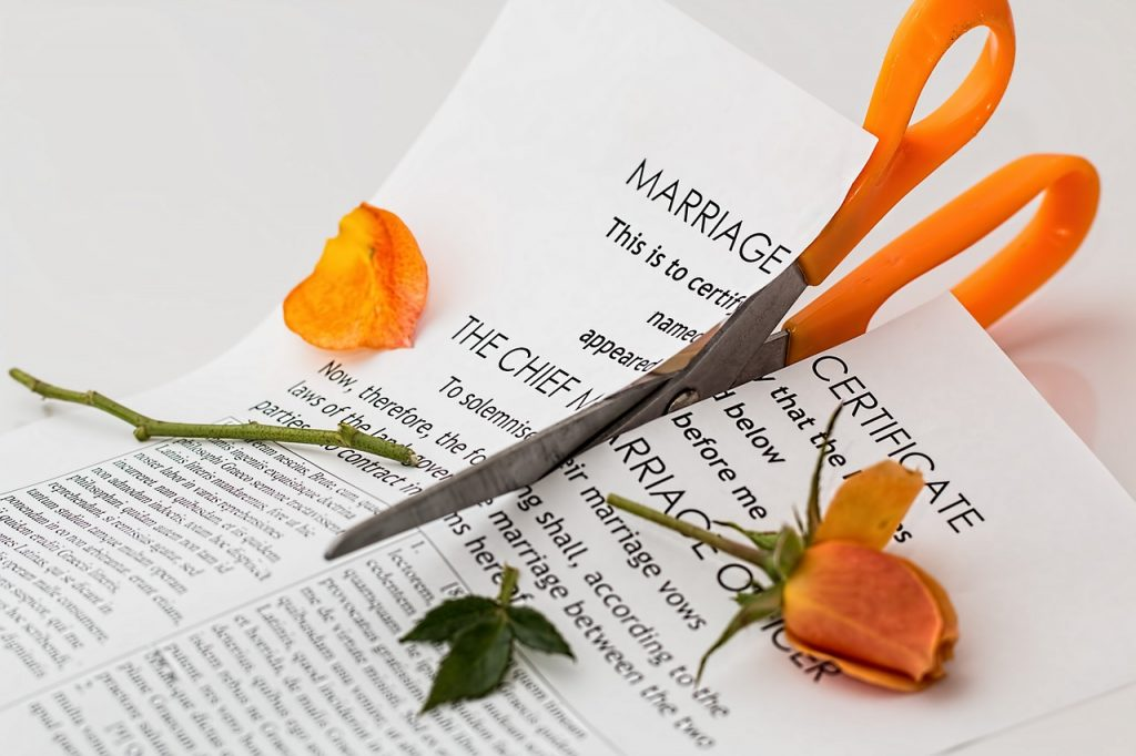 a marriage certificate after a divorce